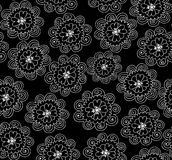 Teste padrão sem emenda do vetor abstrato com flores decorativas Textura floral infinita Fotografia de Stock Royalty Free