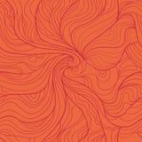 Teste padrão sem emenda do vetor abstrato do redemoinho no vermelho Imagens de Stock Royalty Free