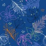 Teste padrão sem emenda do vetor bonito Esboço colorido do verão selvagem ilustração do vetor