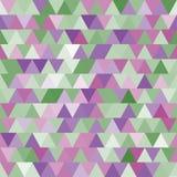Teste padrão sem emenda do vetor brandamente roxo e verde com triângulos abstraia o fundo Fotos de Stock