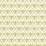 Teste padrão sem emenda do vetor do carnaval de Mardi Gras com flor de lis do ouro ilustração royalty free