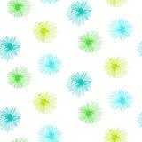 Teste padrão sem emenda do vetor com as flores peludos pequenas Imagem de Stock Royalty Free