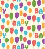 Teste padrão sem emenda do vetor com balões coloridos Fotos de Stock Royalty Free