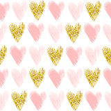 Teste padrão sem emenda do vetor com brilho do ouro fotos de stock royalty free