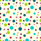 Teste padrão sem emenda do vetor com círculos coloridos no fundo bege Fotografia de Stock