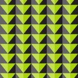 Teste padrão sem emenda do vetor com cal e triângulos cinzentos Imagem de Stock Royalty Free