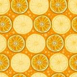 Teste padrão sem emenda do vetor com citrinas Imagem de Stock Royalty Free