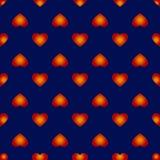 Teste padrão sem emenda do vetor com corações abstratos agradáveis Fotografia de Stock Royalty Free