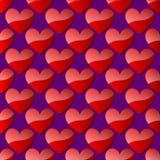 Teste padrão sem emenda do vetor com corações abstratos agradáveis Fotos de Stock