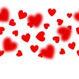 Teste padrão sem emenda do vetor com corações vermelhos no branco ilustração do vetor