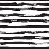 Teste padrão sem emenda do vetor com cursos pretos da escova Imagens de Stock
