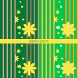 Teste padrão sem emenda do vetor com elementos florais Foto de Stock Royalty Free