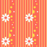 Teste padrão sem emenda do vetor com elementos florais Fotografia de Stock Royalty Free