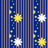 Teste padrão sem emenda do vetor com elementos florais Imagens de Stock