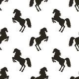 Teste padrão sem emenda do vetor com elevação do cavalo ilustração royalty free