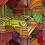 Teste padrão sem emenda do vetor com entrelaçamento das linhas Imagens de Stock