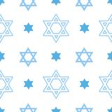 Teste padrão sem emenda do vetor com a estrela de David judaica ilustração do vetor