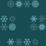 Teste padrão sem emenda do vetor com flocos de neve Fundo do inverno ilustração do vetor