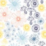 Teste padrão sem emenda do vetor com flores do verão imagem de stock