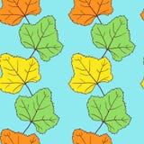 Teste padrão sem emenda do vetor com folhas Imagem de Stock Royalty Free