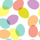 Teste padrão sem emenda do vetor com formas ovais decorativas Fotografia de Stock Royalty Free