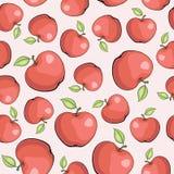 Teste padrão sem emenda do vetor com maçãs Fotos de Stock