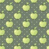 Teste padrão sem emenda do vetor com maçãs Foto de Stock