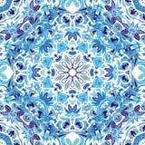 Teste padrão sem emenda do vetor com o ornamento floral brilhante Elemento do projeto do vintage no estilo oriental Tracery decor Fotos de Stock