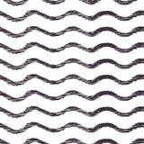 Teste padrão sem emenda do vetor com ondas Textura gráfica tirada mão Foto de Stock Royalty Free