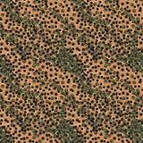 Teste padrão sem emenda do vetor com os pontos que imitam a cópia da pele animal ilustração royalty free