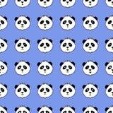 Teste padrão sem emenda do vetor com pandas Imagem de Stock Royalty Free