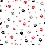 Teste padrão sem emenda do vetor com pegadas animais dos traços Pode ser usado para o papel de parede, fundo do página da web, te ilustração do vetor