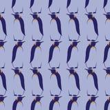Teste padrão sem emenda do vetor com pinguins Foto de Stock