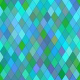 Teste padrão sem emenda do vetor com rombos Textura azul abstrata Foto de Stock Royalty Free