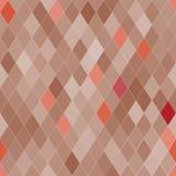 Teste padrão sem emenda do vetor com rombos Textura bege abstrata Foto de Stock Royalty Free