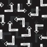 Teste padrão sem emenda do vetor com setas ilustração stock