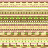 Teste padrão sem emenda do vetor com tiras coloridas e Fotos de Stock Royalty Free