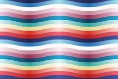 Teste padrão sem emenda do vetor com tiras onduladas da cor. Foto de Stock Royalty Free