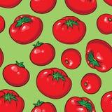 Teste padrão sem emenda do vetor com tomates Foto de Stock Royalty Free