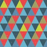 Teste padrão sem emenda do vetor com triângulos Imagens de Stock