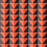 Teste padrão sem emenda do vetor com triângulos alaranjados e cinzentos Imagens de Stock Royalty Free