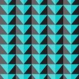 Teste padrão sem emenda do vetor com triângulos azuis e cinzentos Fotos de Stock