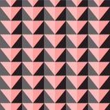 Teste padrão sem emenda do vetor com triângulos cor-de-rosa e cinzentos Imagem de Stock Royalty Free