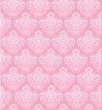 Teste padrão sem emenda do vetor cor-de-rosa com elementos barrocos ilustração stock