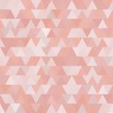 Teste padrão sem emenda do vetor cor-de-rosa macio com triângulos abstraia o fundo Foto de Stock Royalty Free