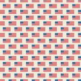 Teste padr?o sem emenda do vetor da bandeira dos EUA ilustração stock