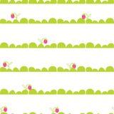 Teste padrão sem emenda do vetor da cama do jardim da morango Fotos de Stock