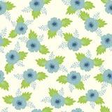 Teste padrão sem emenda do vetor, da cor com flores e folhas Foto de Stock