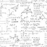 Teste padrão sem emenda do vetor da educação da matemática Fotografia de Stock