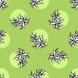 Teste padrão sem emenda do vetor da flor do cacto Ilustração suculento verde tirada mão do cacto do vetor Papel de parede sem eme ilustração royalty free